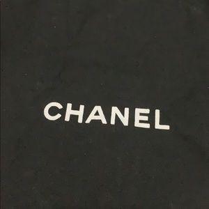 CHANEL Bags - CHANEL black drawstring shoe dustbag